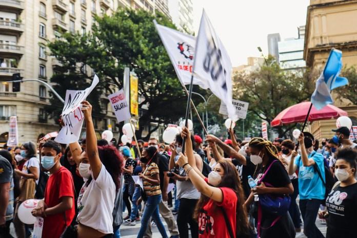 Brezilya'da greve çıkan kamu çalışanları