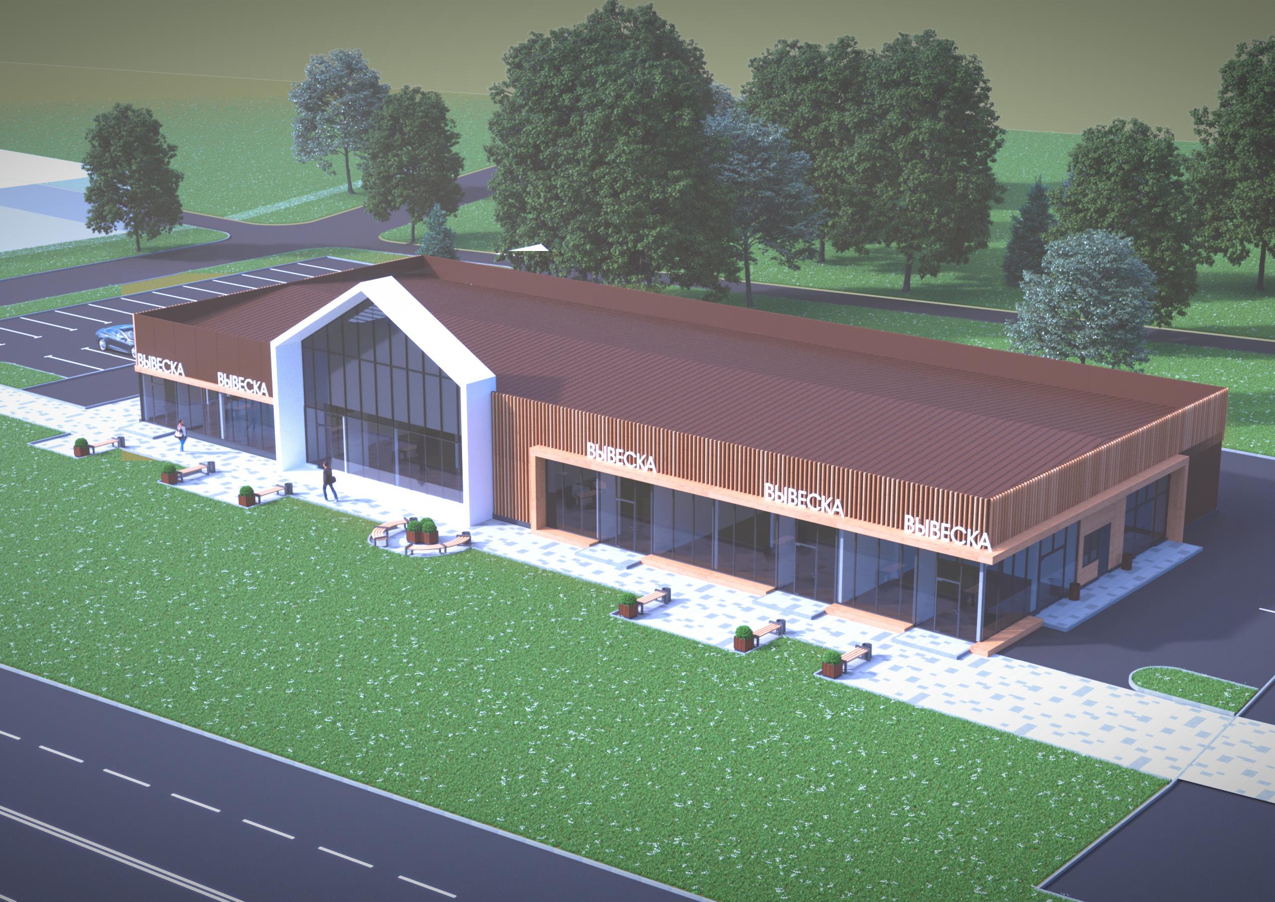 Общий вид здания гаражно-складского типа
