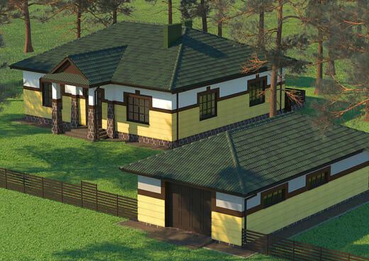 К27-1Э-149 «Проект четырёхкомнатного одноэтажного жилого дома»