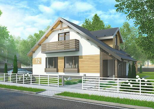 К17-2Э-110 «Проект четырёхкомнатного жилого дома мансардного типа»