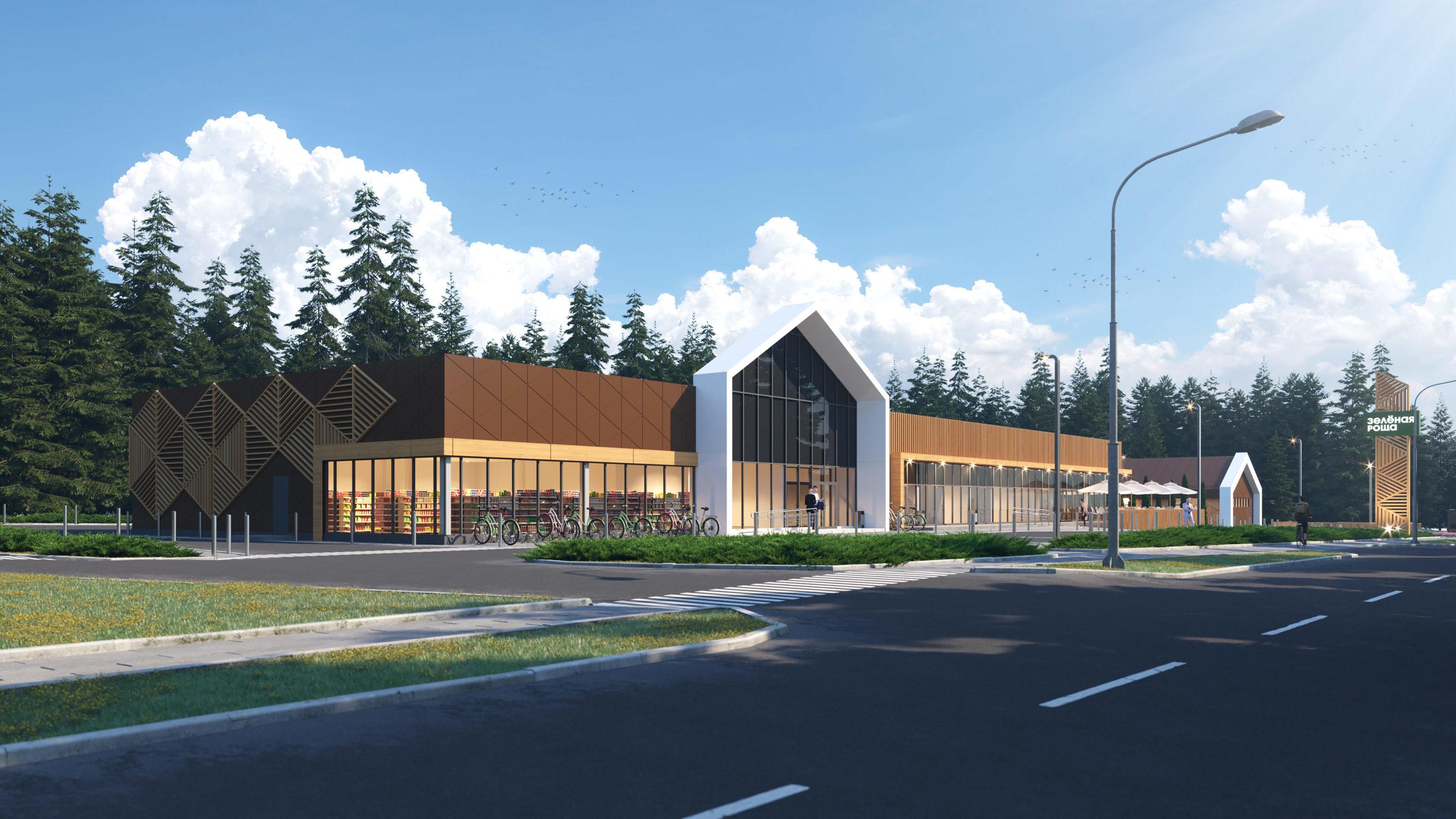 Проект здания торгового центра