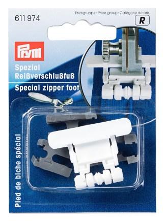 Лапка для швейных машин для притачивания потайных застежек-молний