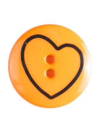 Пуговица DILL – Круглая с кривым сердечком