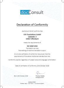 Post-Editing Machine Translations – the New ISO 18587 Standard
