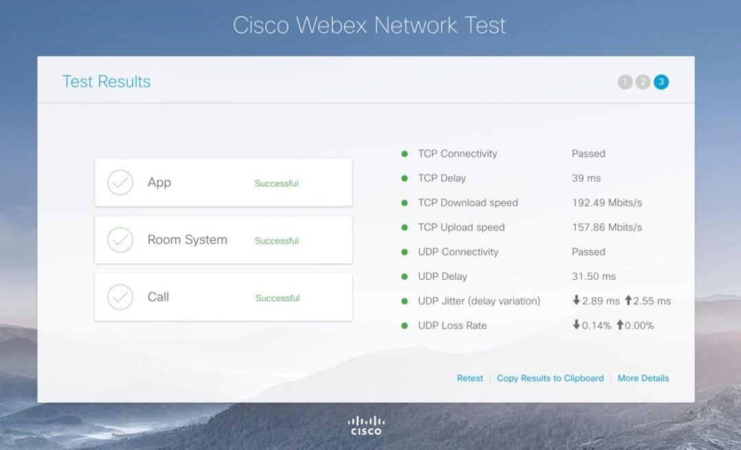 Cisco Webex Internet Speedtest
