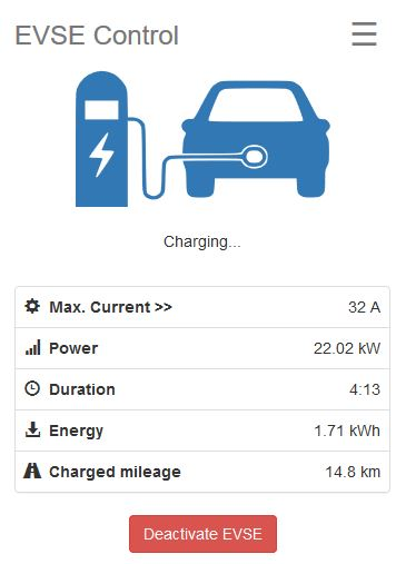 EVSE-WiFi - EVSE Control - Charging