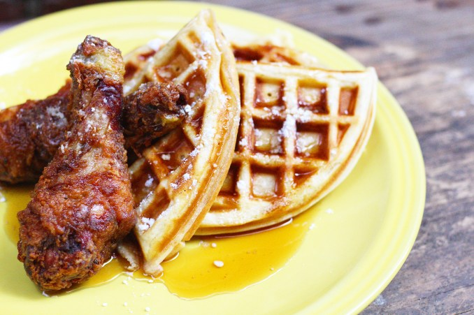 Cajun Fried Chicken and Waffles - Ev's Eats