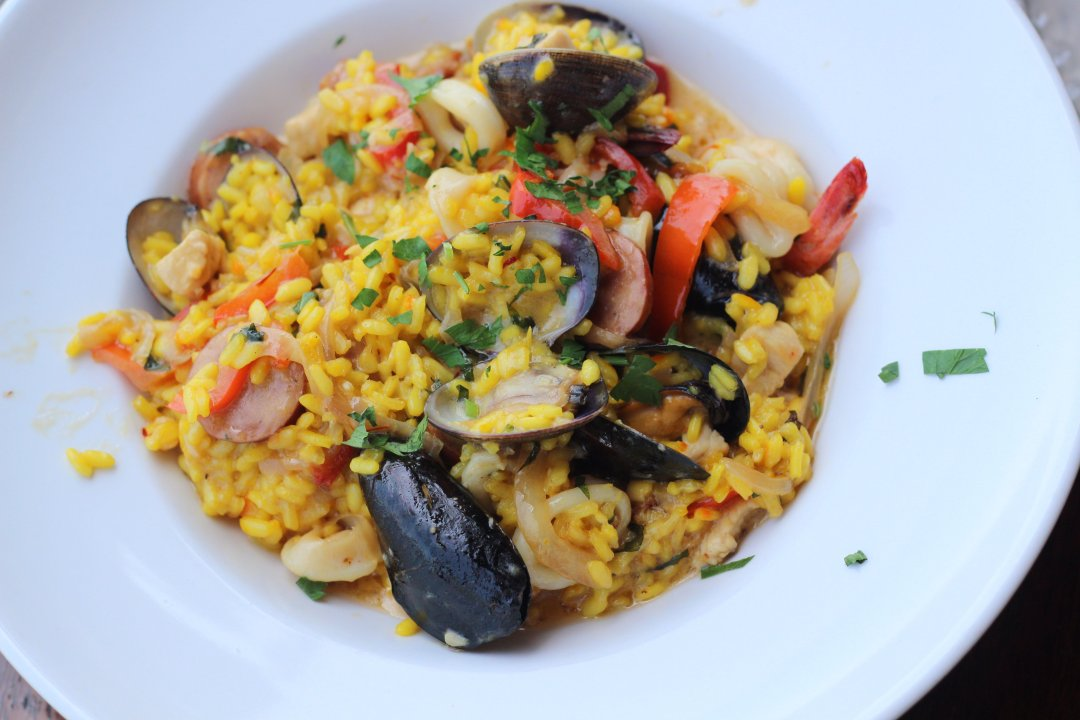 Killer Shrimp Seafood Paella