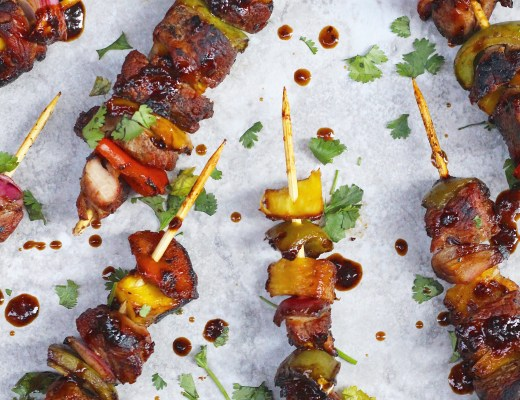 Sweet and savory pork kabobs made with a sweet and spicy Chinese fermented black bean sauce. Perfect summer recipe for grilling!