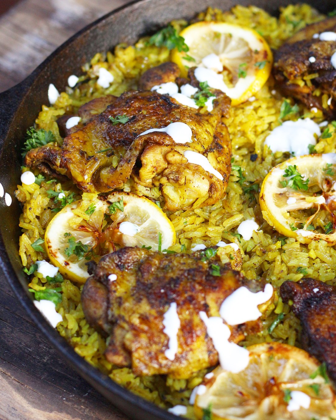 One pot middle eastern chicken and rice evs eats a flavorful middle eastern chicken made with seasoned turmeric rice all in one pot fuss forumfinder Choice Image