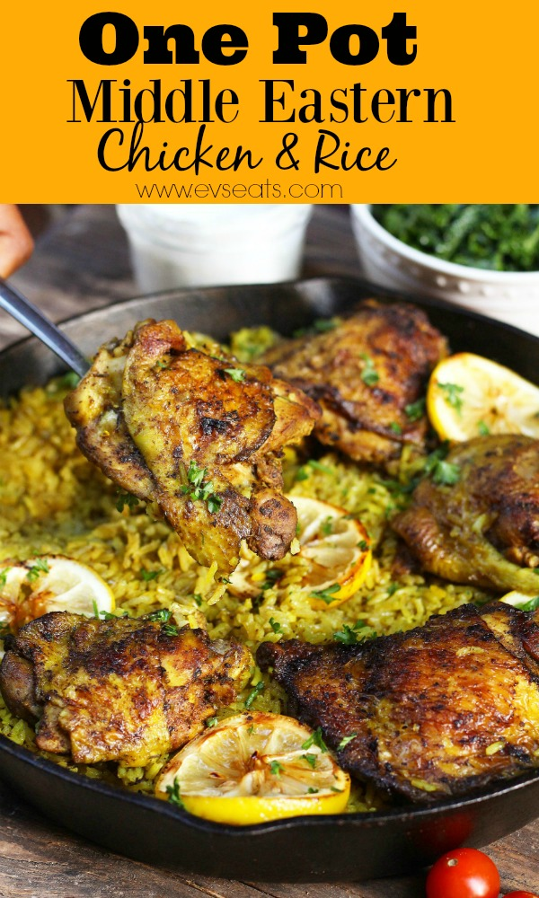 One Pot Middle Eastern Chicken And Rice Evs Eats