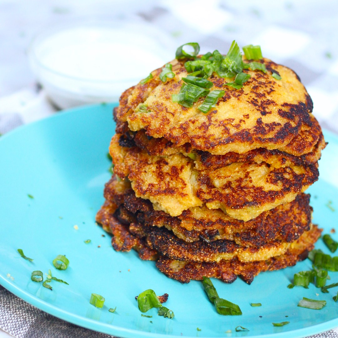 Ghanaian Tatale, spiced fried plantain pancakes that are crispy, sweet, & savory and are great for breakfast and a snack.