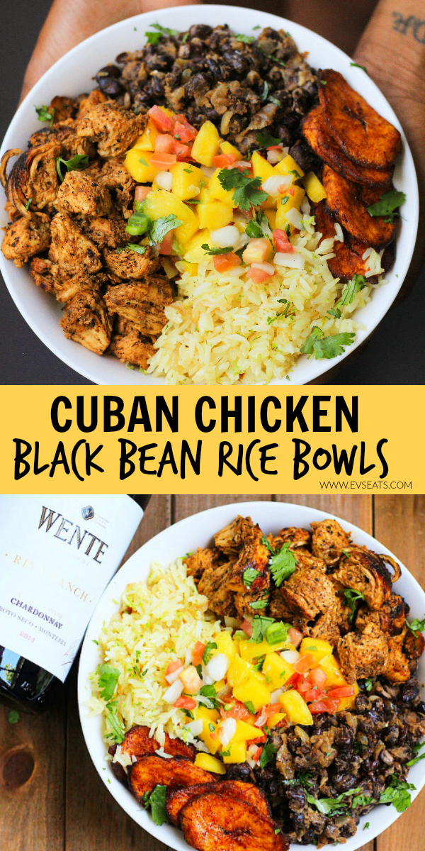 Cuban Chicken Black Bean Rice Bowls Evs Eats