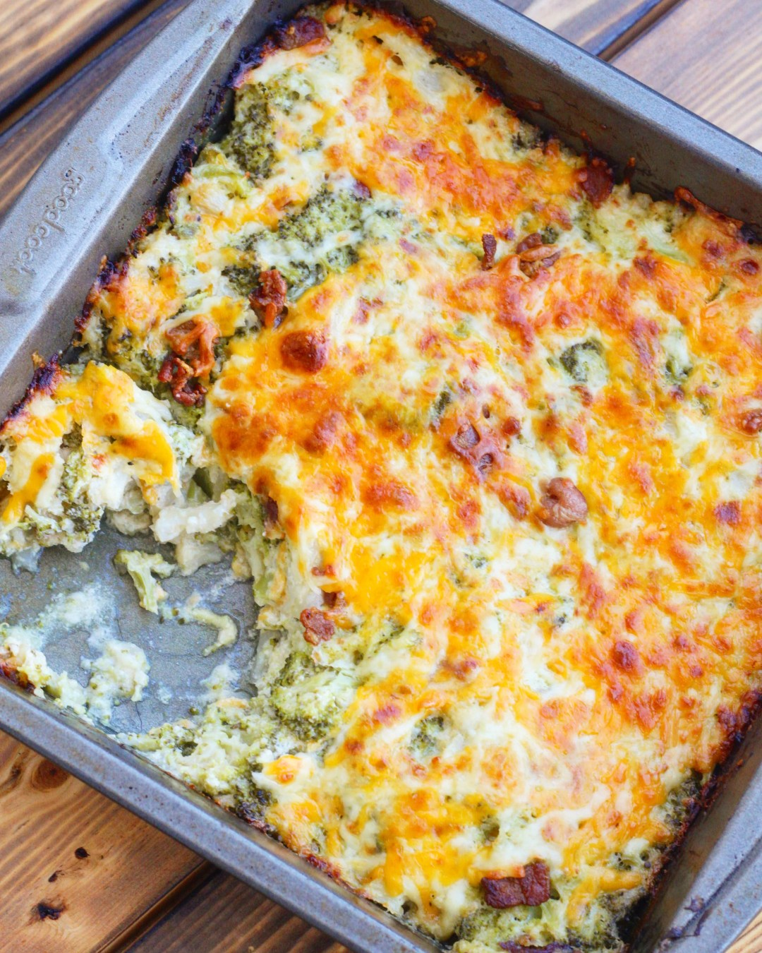 This keto friendly cauliflower broccoli casserole is the perfect side dish  to have on the dinner