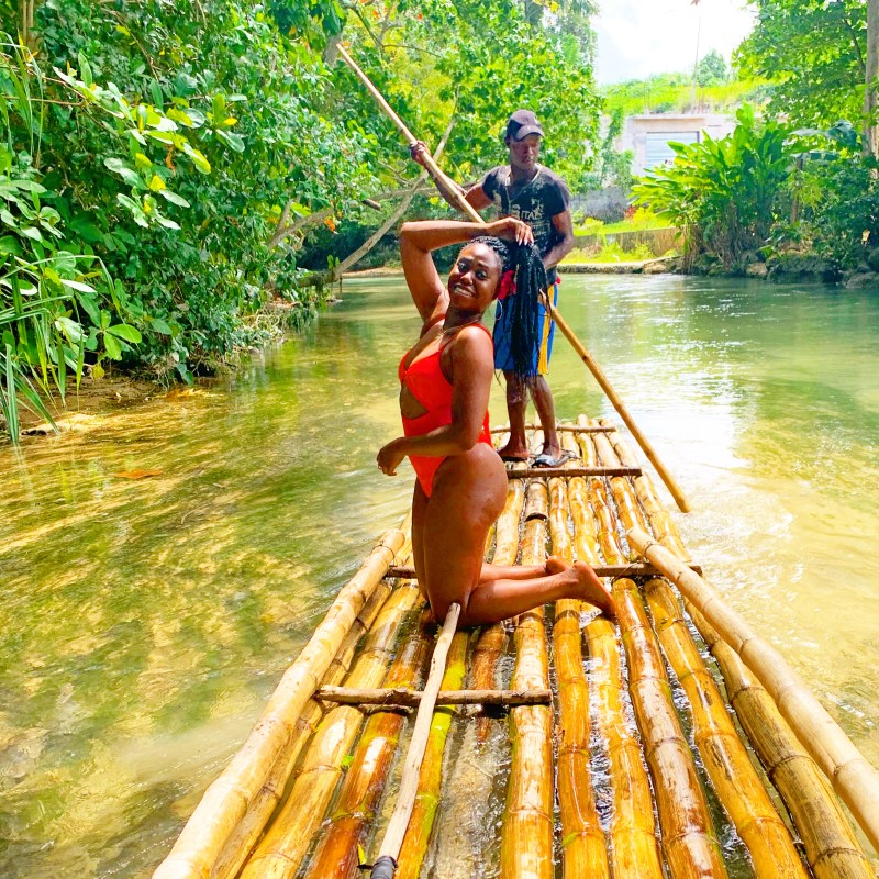 Two of my favorite activities in Ocho Rios are visiting the Blue Hole & rafting at the White River! Such a beautiful city of Jamaica...
