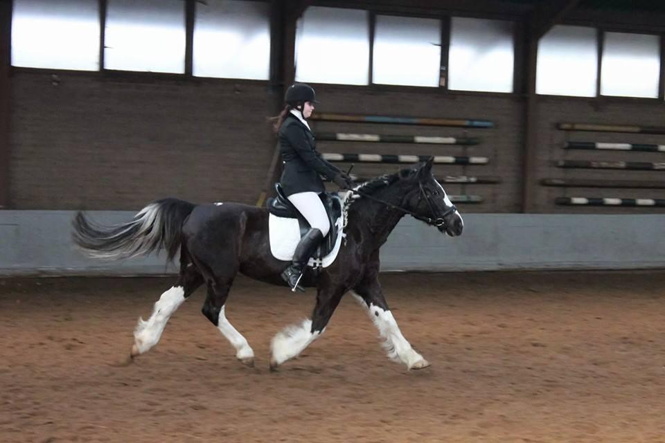 Emma is 2e geworden met 177 punten met haar pony Mustang!