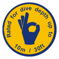 ewa-marine rated to a dive depth of up to 10m / 30ft