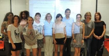 Les participantes de l'atelier Osez Coder et son animateur