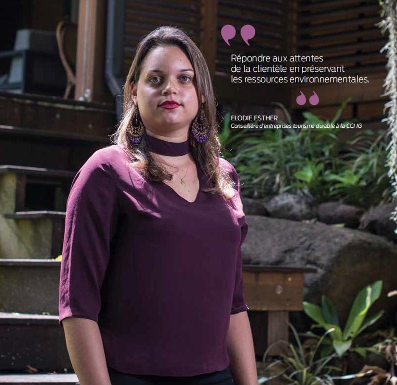 Elodie Es ther Conseillère d'entreprises tourisme durable à la CCI IG