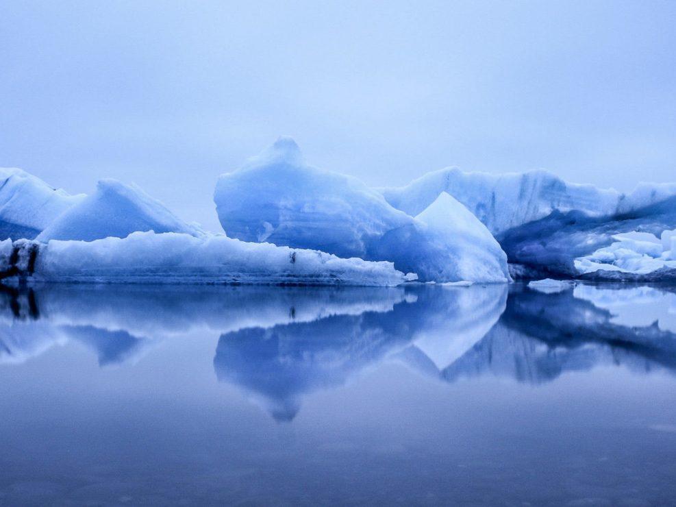 Islandia Jokulsarlon nocą
