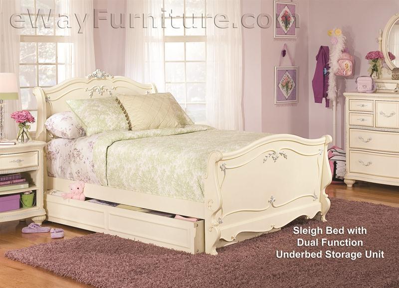 white sleigh bed children s bedroom