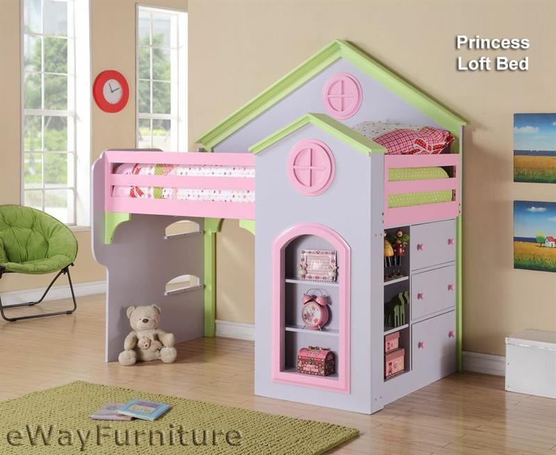 Princess Loft Dollhouse Bed