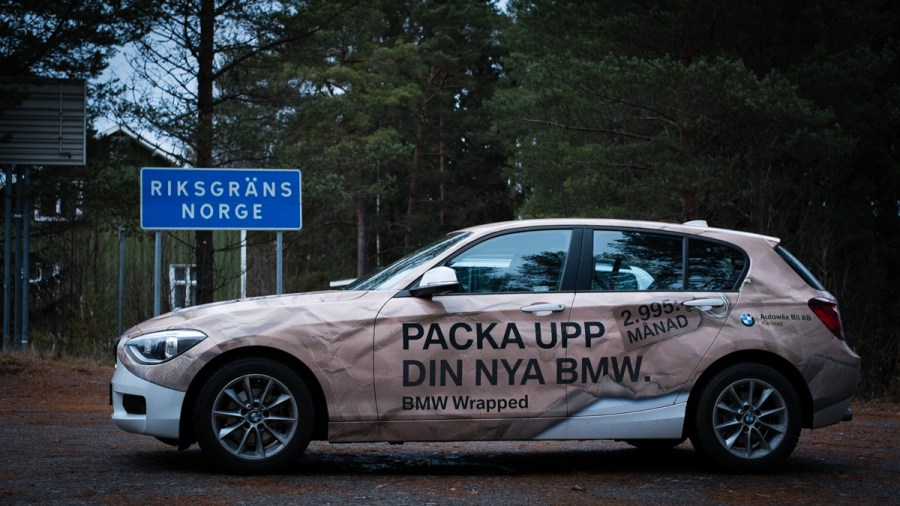 BMW 116i vid norska gränsen