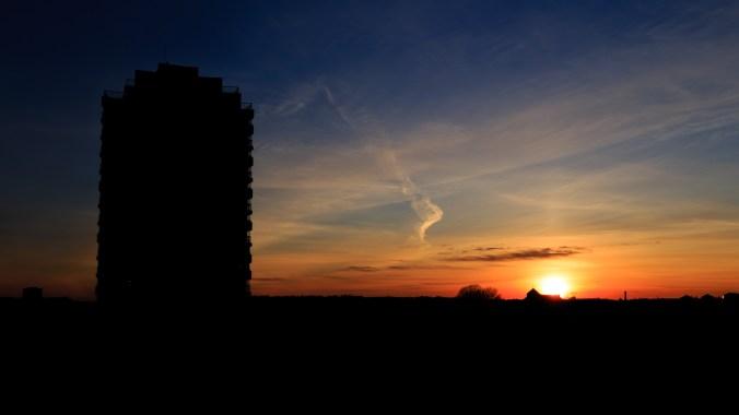 Solnedgång över Karlstad