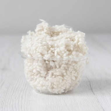 wool nepps Natural White
