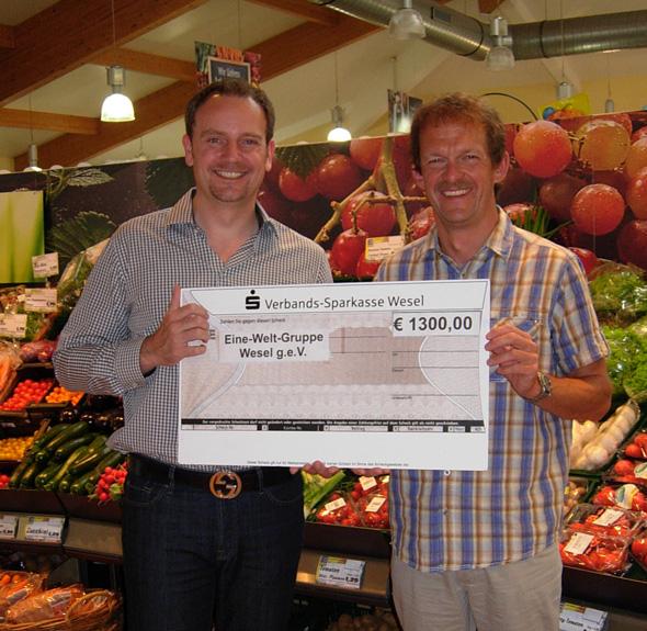 Pfand-Aktion bei EDEKA Komperbrachte 1.300,- €uro