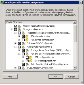 Enable Disable ESX Host Profile Configuration