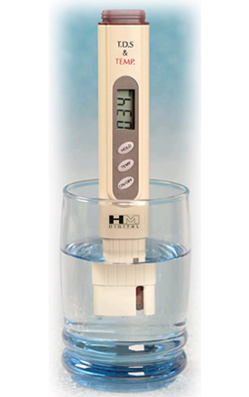 TDS Meter to measure water purity