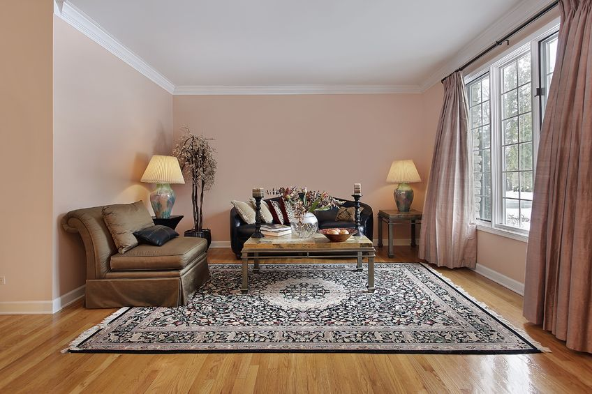 7750925 – living room in luxury home with wood floors