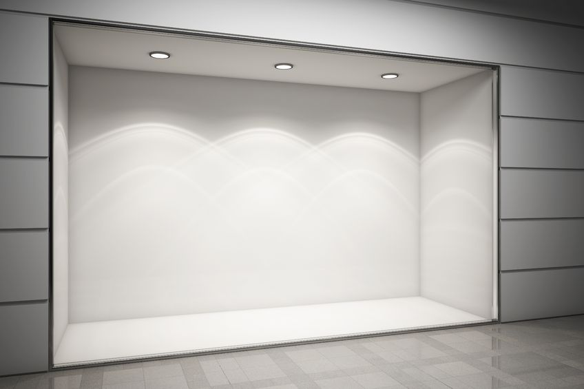 13275746 – an empty storefront of shop