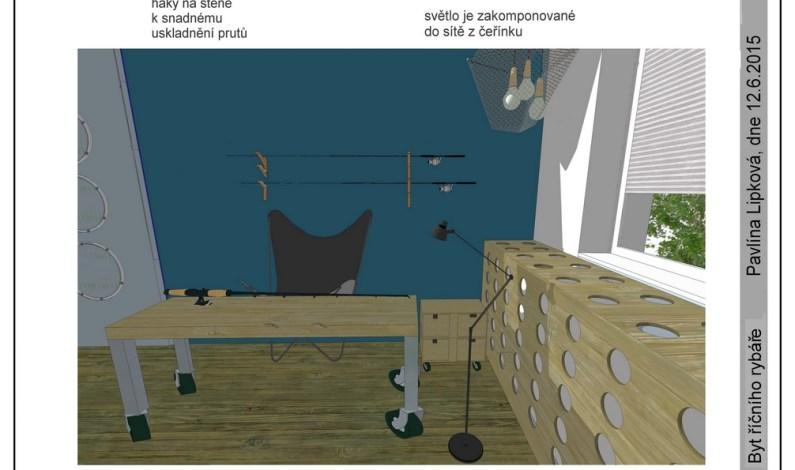 Stylový byt pro rybáře