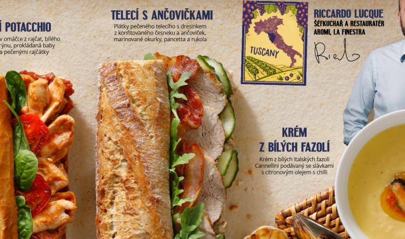 Zbrusu nové letní menu Bageterie Boulevard zavoní zpod toskánské pokličky