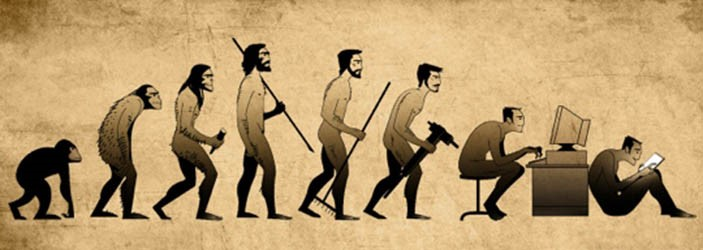 Image result for evolution of humans and cell phones