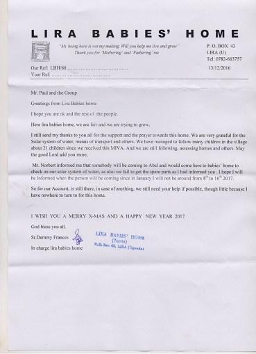 Brief aus Lira