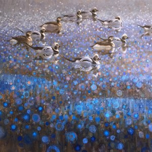 ewoud-de-groot-wildlife-art-artist-animals-birds-oil-painting-canvas-linen-longtale-ducks