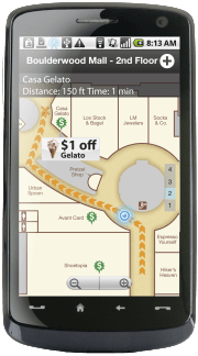 The Wifarer app for Android gives users heaps of content, discounts, and deals related to where they are located. Image: Courtesy of Wifarer