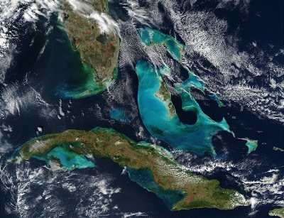 Fires in Cuba and Florida