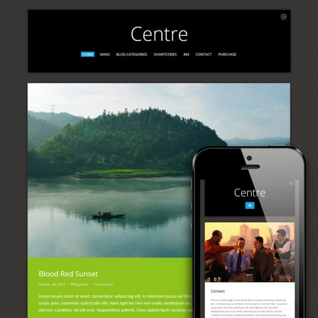 Centre Responsive Metro WordPress Theme