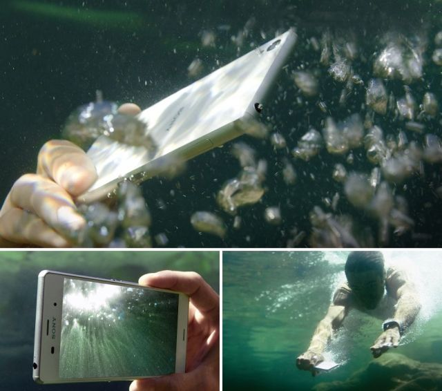 Use the Xperia Z3 in the rain or in the pool