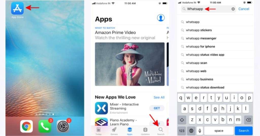 search whatsapp on app store