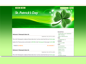 St Patrick Day theme