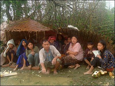 cyclone hit in Myanmar