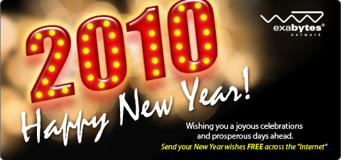 Happy New Year 2010 from Exabytes Network