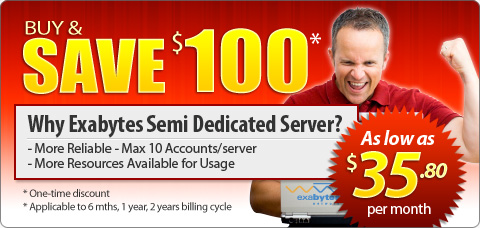 Exabytes Semi Dedicated Server