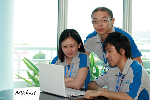 Michael Ch'ng, the most junior staff in this division