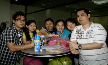 exabytes staff enjoying the meal